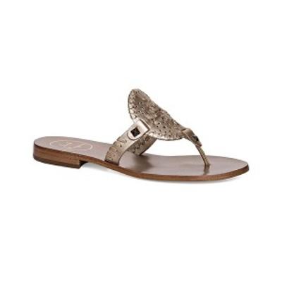 ジャックロジャース レディース サンダル シューズ Georgica Flat Sandals Platinum