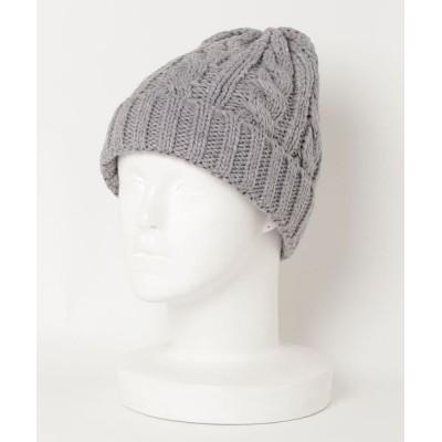ZealMarket/SFW / 杢ケーブルキャップ WOMEN 帽子 > ニットキャップ/ビーニー