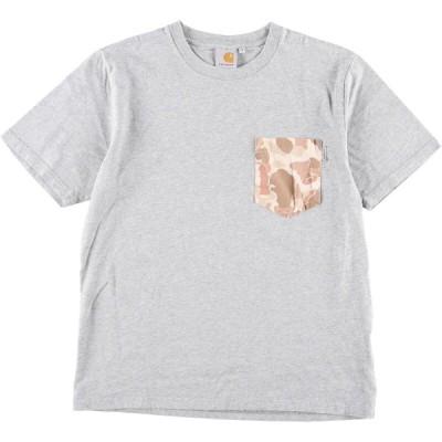 カーハート Carhartt ダックハンターカモ 迷彩柄切替 半袖 ポケットTシャツ メンズS /eaa134208