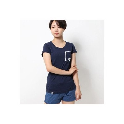 フォーエフ 4F 【レディース】ロゴ入りスポーツTシャツ (DARK BLUE)