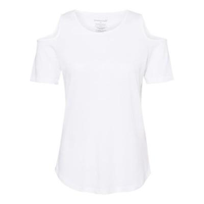 レディース 衣類 トップス T32 - Women's Cold Shoulder T-Shirt - Boxercraft - MF Tシャツ