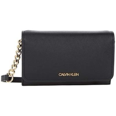カルバン・クライン Saffiano Wallet on String レディース ハンドバッグ かばん Black/Gold