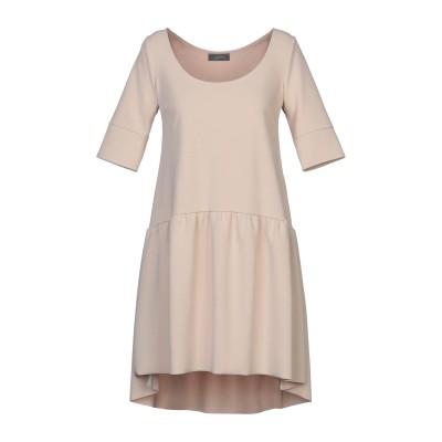 SOALLURE ミニワンピース&ドレス ベージュ 42 ポリエステル 95% / ポリウレタン 5% ミニワンピース&ドレス