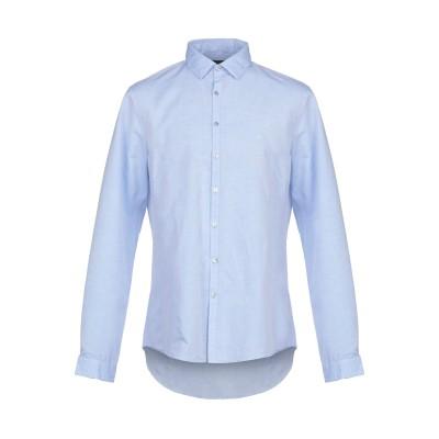 カルバン クライン CALVIN KLEIN シャツ スカイブルー 45 コットン 60% / 麻 40% シャツ