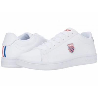 K-Swiss ケースイス メンズ 男性用 シューズ 靴 スニーカー 運動靴 Court Shield White/Corporate【送料無料】