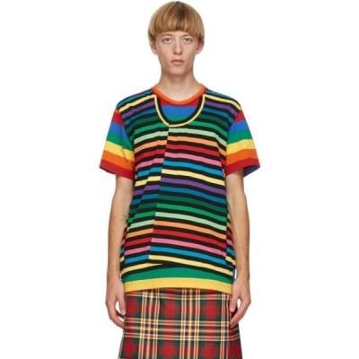 コム デ ギャルソン Comme des Garcons Homme Plus メンズ Tシャツ トップス Multicolor Horizontal Stripe T-Shirt Multicolor