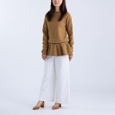 ELIN(エリン)/Felt peplum po knit