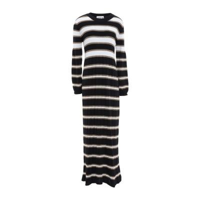 アニヤバイ ANIYE BY 7分丈ワンピース・ドレス ブラック XS レーヨン 40% / ウール 20% / ナイロン 20% / 金属繊維 1