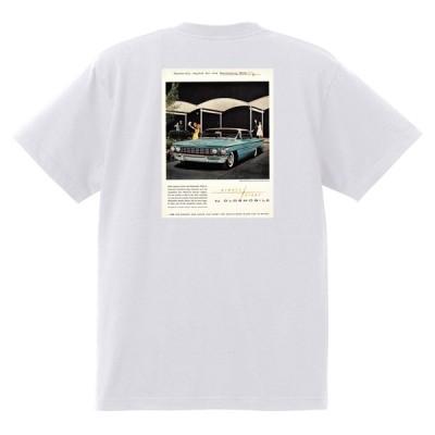 アドバタイジング オールズモビル 611 白 Tシャツ 黒地へ変更可  1960 スターファイア カトラス 98 88 ダイナミック スーパー ホットロッド