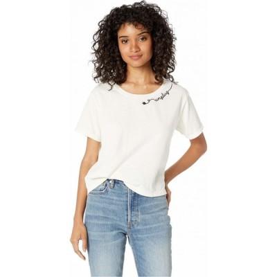 フォーベター ノットワース FOR BETTER NOT WORSE レディース Tシャツ トップス Unplug Boxer T-Shirt House White