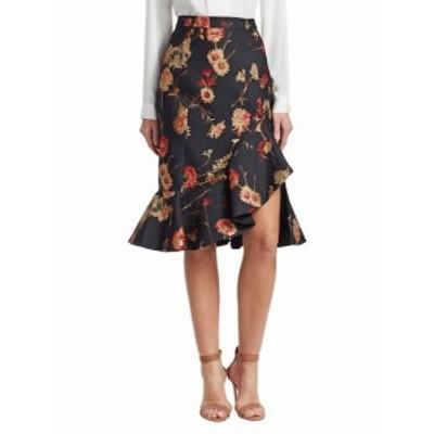 プラバル・グルン レディース スカート Ruffle Hem Floral Skirt