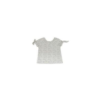 スタイルアンドコー カットソー トップス レディース Petite Dot-Print Tie-Sleeve Top,  Vanilla Dot