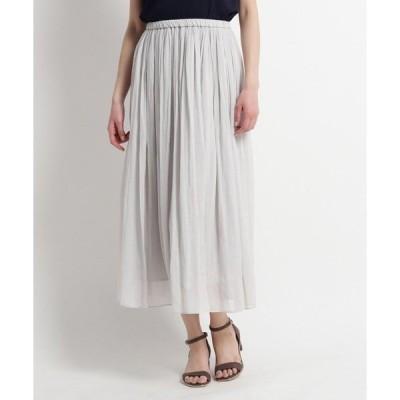 スカート 【洗える】ブランロングスカート