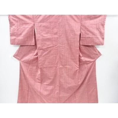 リサイクル 絣柄織り出し手織り紬着物