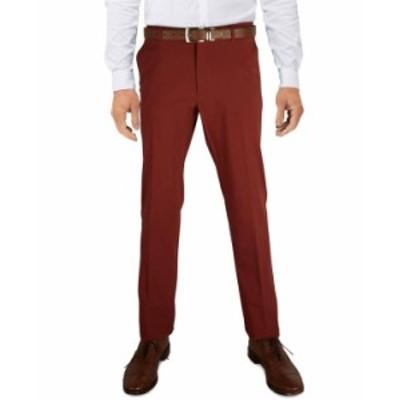 トミー ヒルフィガー メンズ カジュアルパンツ ボトムス Men's Modern-Fit TH Flex Stretch Comfort Solid Performance Pants Rust Solid