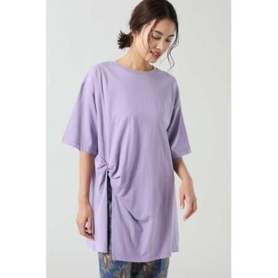 ROSE BUD/ローズ バッド ねじりチュニックTシャツ パープル -