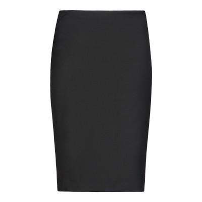 エンポリオ アルマーニ EMPORIO ARMANI ひざ丈スカート ブラック 46 バージンウール 98% / ポリウレタン 2% ひざ丈スカート