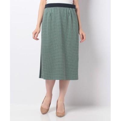 CARA O CRUZ/キャラ・オ・クルス チェックタイトスカート グリーン系5 11