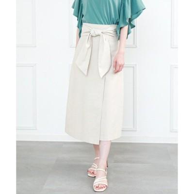スカート ワイドリボンラップ風スカート