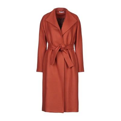 ANGELA MELE MILANO コート 赤茶色 XS アクリル 52% / ポリエステル 40% / ウール 8% コート