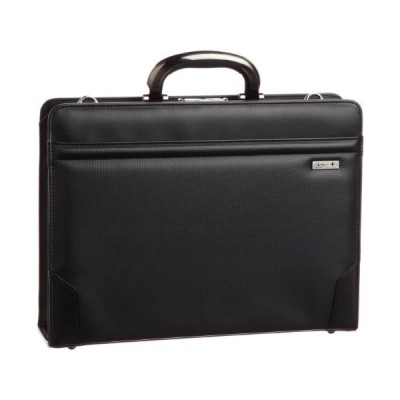 アイエスプラス アルミ手ハンドル撥水39cmダレスビジネスバッグ 日本製 口枠ダレス ブラック