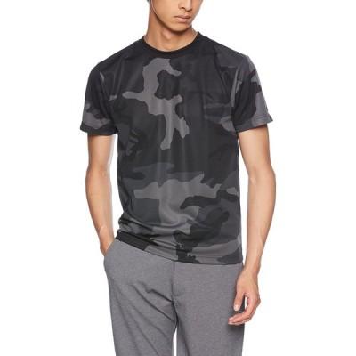ユナイテッドアスレ 4.1ozドライアスレチックカモフラTシャツ メンズ 590601 ブラックウッドランド 日本 L (日本サイズL相当)