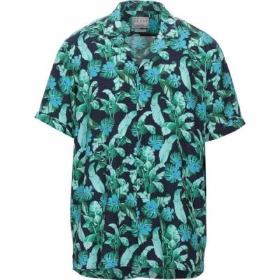 ゲス GUESS メンズ シャツ トップス patterned shirt Green