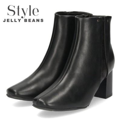 STYLE JELLY BEANS ジェリービーンズ ブーツ ブラック 288 ショートブーツ 黒 レディース 靴 ヒール セール