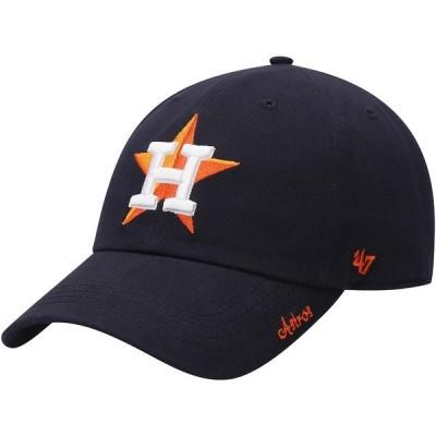 フォーティーセブン 帽子 アクセサリー レディース Houston Astros '47 Women's Team Miata Clean Up Adjustable Hat Navy