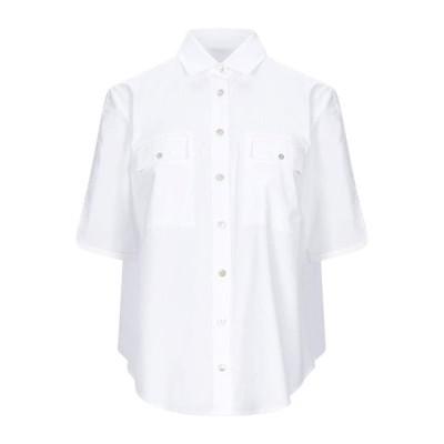 BARBA Napoli 無地シャツ&ブラウス  レディースファッション  トップス  シャツ、ブラウス  長袖 ホワイト