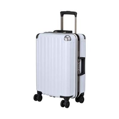 [エー・エル・アイ] スーツケース ハードキャリー 機内持ち込み可 32L 3.3kg カーボンホワイト