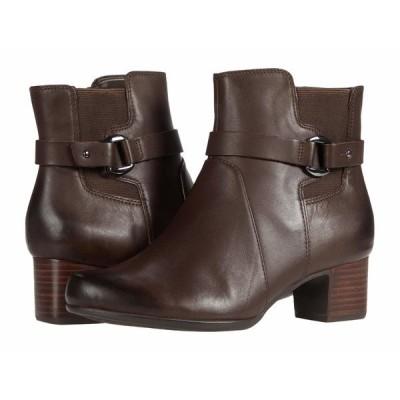 クラークス ブーツ&レインブーツ シューズ レディース Un Damson Mid Brown Leather