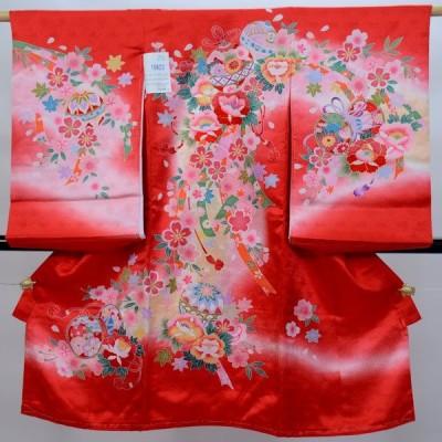 お宮参り産着  女児 正絹 のしめ 祝着 高級 本格手描き 新品 (株)安田屋q91955764