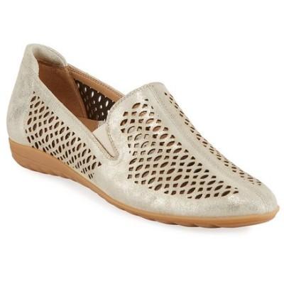 セストメウッシー レディース スリッポン・ローファー シューズ Byrna Metallic Perforated Leather Comfort Loafer
