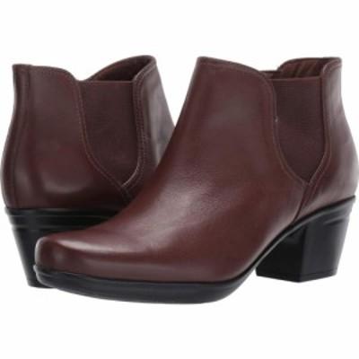 クラークス Clarks レディース ブーツ シューズ・靴 Emslie Noreen Dark Brown Leather