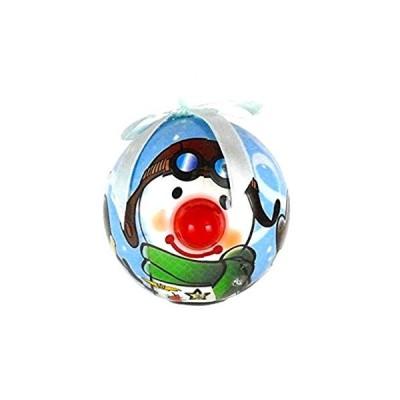 スノーマン パイロット 光る オーナメントボール (飛行機/クリスマス/オーナメントボール)