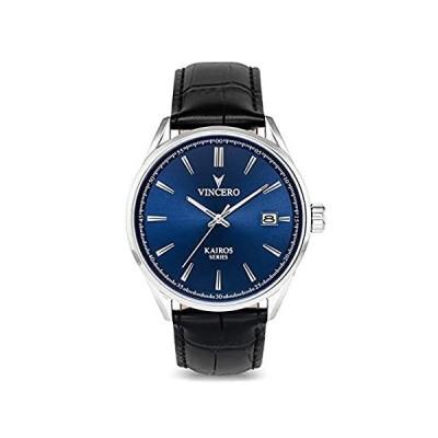 Vincero Men's Kairos Luxury Watch 42mm Quartz Movement Blue/Black