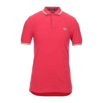 フレッドペリー FRED PERRY ポロシャツ レッド S コットン 100% ポロシャツ