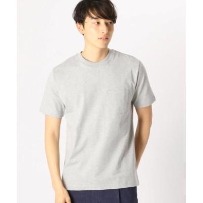 COMME CA ISM/コムサイズム <汗染み防止加工> ポケット付 Tシャツ グレー XL