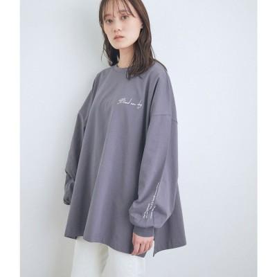 ビス ViS 【WEB限定】アソートプリントBIGシルエットロングTシャツ (チャコール(06))
