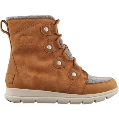 ソレル SOREL レディース ブーツ ウインターブーツ シューズ・靴 Explorer Joan Felt 100g Waterproof Winter Boots Camel brown