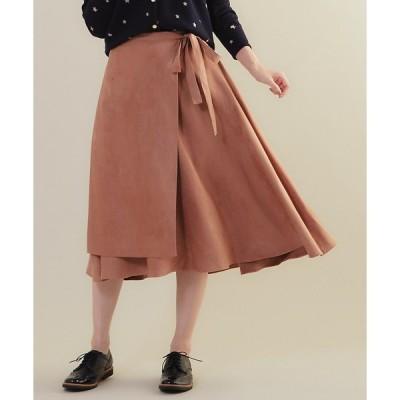 Rouge vif la cle / ルージュ・ヴィフ ラクレ MICA&DEAL ラップ風アシンンメトリースカート