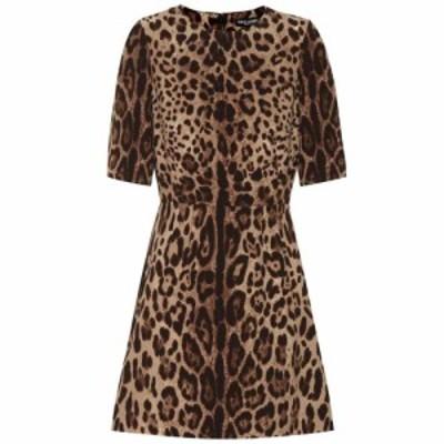 ドルチェandガッバーナ Dolce and Gabbana レディース ワンピース ワンピース・ドレス Leopard-print wool-crepe dress Leo New