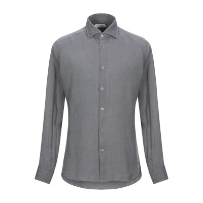 GUGLIELMINOTTI シャツ グレー 40 リネン 100% シャツ
