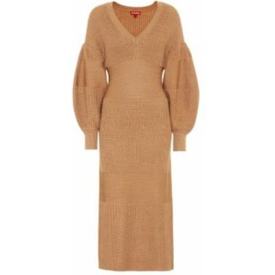 スタウド Staud レディース ワンピース ミドル丈 ワンピース・ドレス Carnation knit midi dress Camel