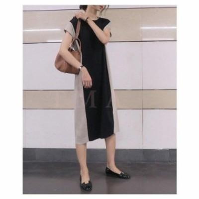 ワンピース レディース 40代 春夏 半袖 ロングワンピース 切り替え 結婚式ドレス 韓国風 30代 40代 通勤 OL 新作