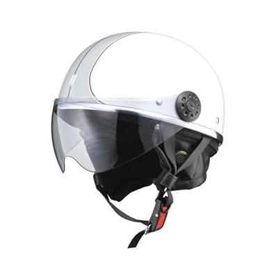 リード工業(LEAD) バイク用ハーフヘルメット O-ONE(オワン) ホワイト/シルバー -