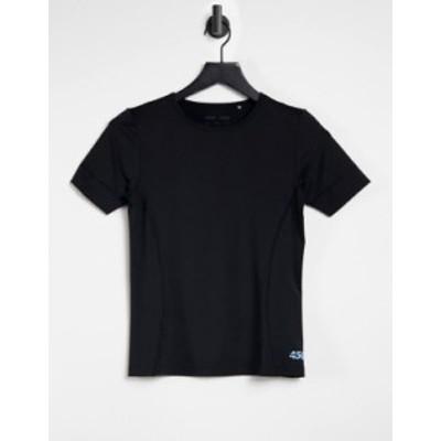 エイソス レディース シャツ トップス ASOS 4505 fitted T-shirt with seam detail Blues