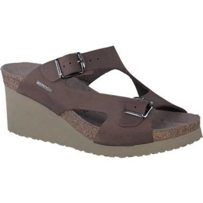 メフィスト Mephisto レディース サンダル・ミュール ウェッジソール シューズ・靴 Terie Wedge Sandal Dark Brown Nubuck
