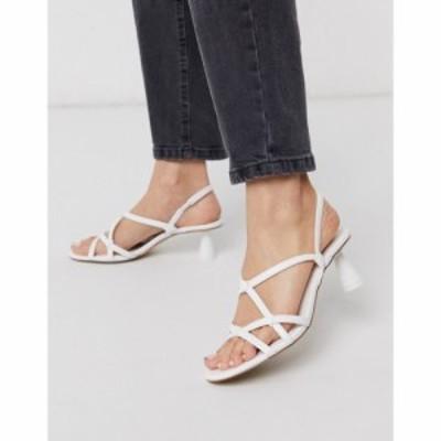フー ワット ウェアー Who What Wear レディース サンダル・ミュール シューズ・靴 Perla Strappy Mid Heeled Sandals In Cream